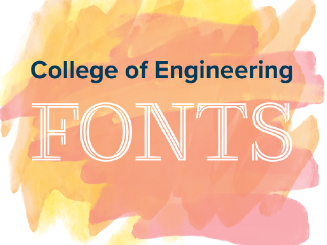 College of Engineering Fonts graphic