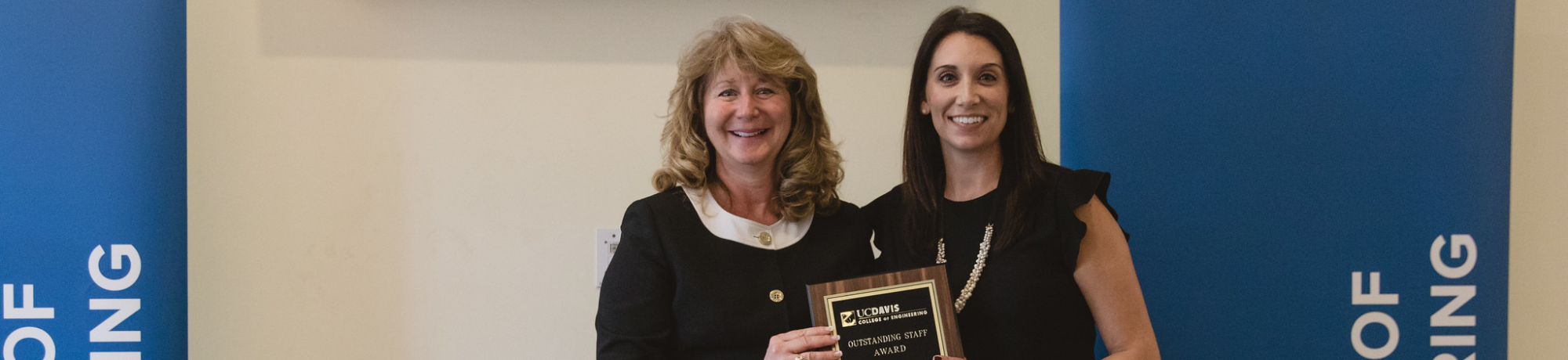 Alison Metzger-Jones, one of the 2019 award winners, with Dean Curtis